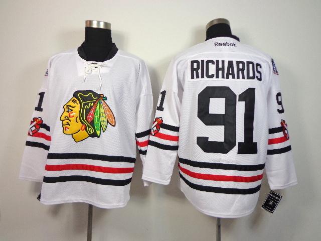 NHL Chicago Blackhawks 91 Richards White 2014 Winter Classic Jerseys