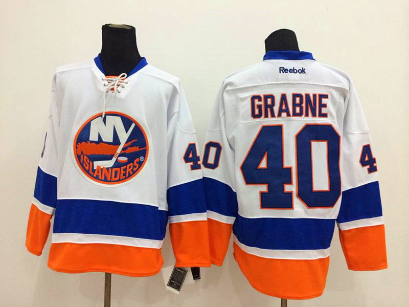 NHL New York Islanders 40 Grabne White 2014 Jerseys
