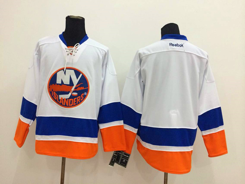 NHL New York Islanders Blank White 2014 Jerseys