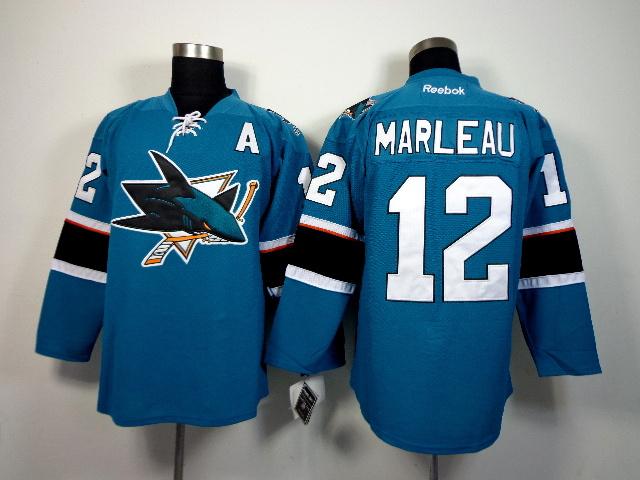 NHL San Jose Sharks 12 Patrick Marleau Green 2014 Jerseys