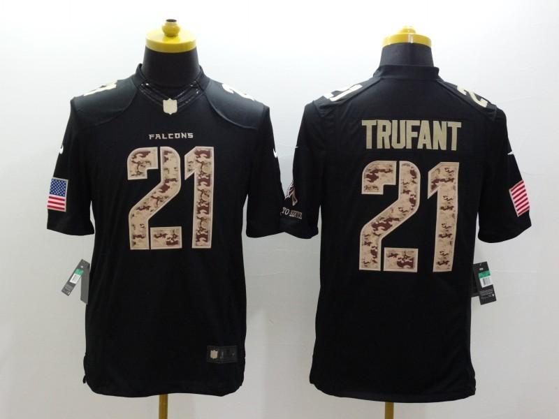 Atlanta Falcons 21 Desmond Trufant Black 2014 Nike Salute TO Service Jersey