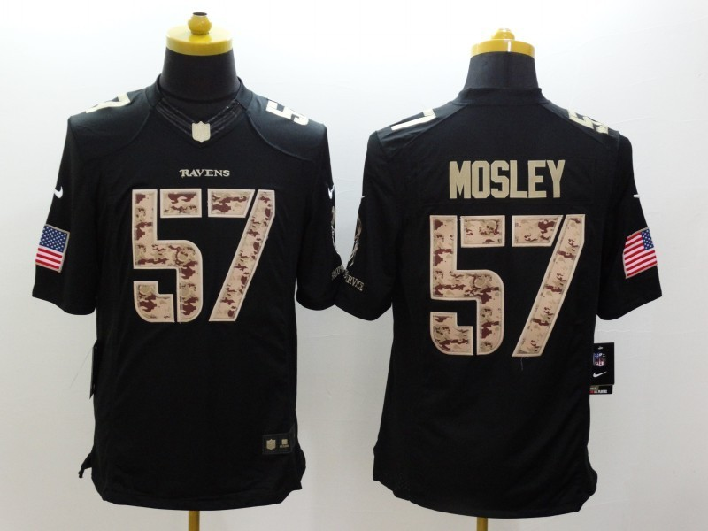 Baltimore Ravens 57 CJ Mosley Black 2014 Nike Salute TO Service Jersey