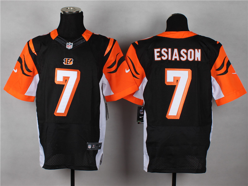 Cincinnati Bengals 7 Boomer Esiason Black 2014 Nike Elite Jerseys