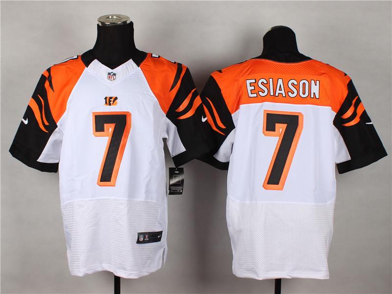 Cincinnati Bengals 7 Boomer Esiason White 2014 Nike Elite Jerseys