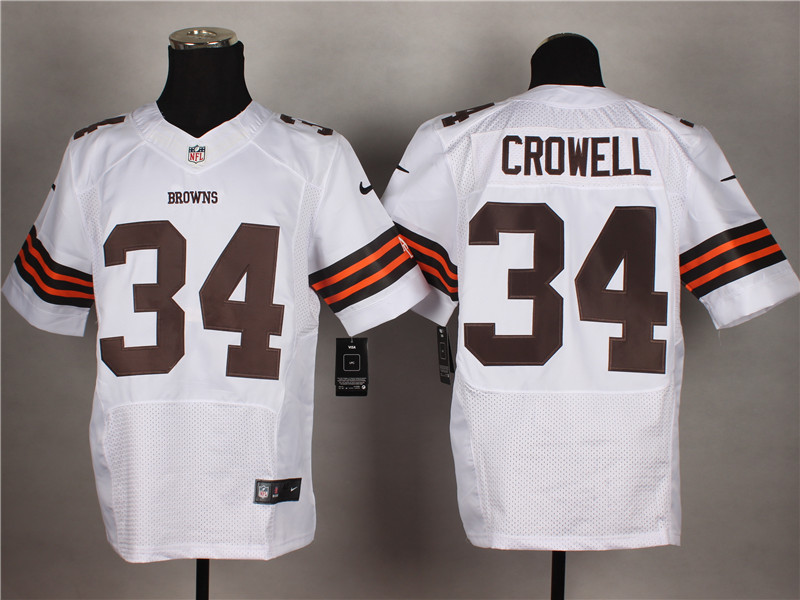 Cleveland Browns 34 Crowell White 2014 Nike Elite Jerseys