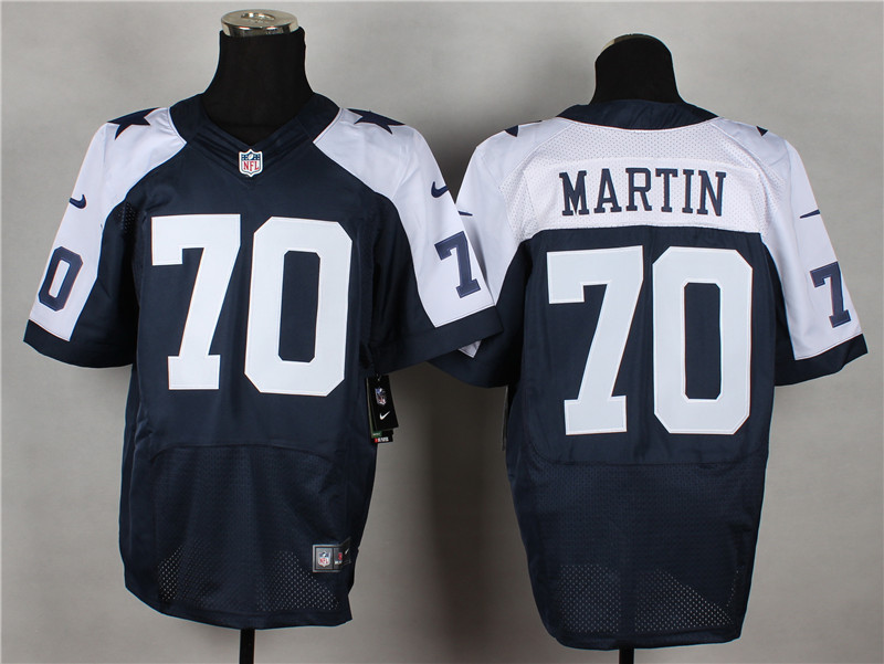 Dallas Cowboys 70 Martin Blue Thanksgiving 2014 Nike Elite Jerseys