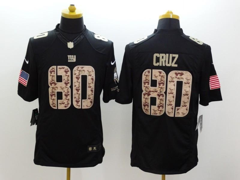 New York Giants 80 Cruz Black 2014 Nike Salute TO Service Jersey