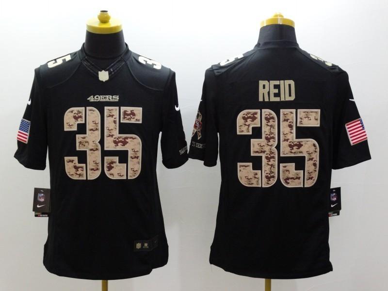 San Francisco 49ers 35 Eric Reid Black 2014 Nike Salute TO Service Jersey