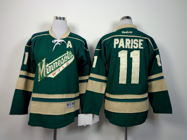 Youth NHL Minnesota Wild 11 Parise Green 2014 Jerseys