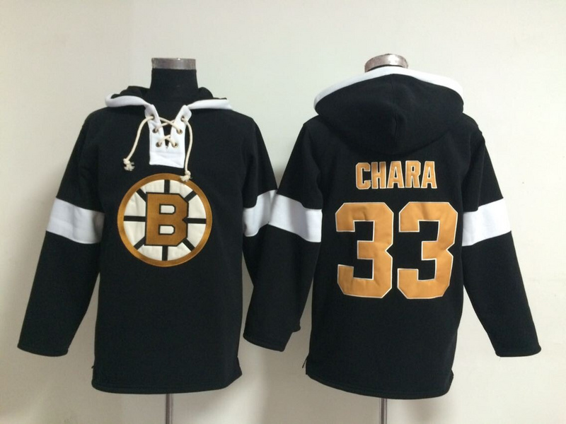 NHL Boston Bruins 33 Zdeno Chara Black Pullover Hooded Sweatshirt