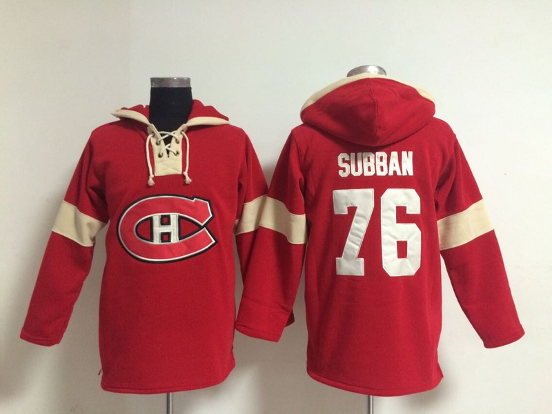 NHL Montreal Canadiens 76 P.K. Subban Red Pullover Hooded Sweatshirt