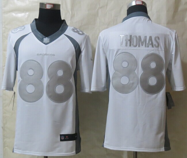 Denver Broncos 88 Thomas Platinum White 2014 New Nike Limited Jerseys