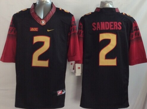 NCAA Florida State Seminoles 2 Sanders Black 2014 Jerseys