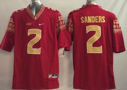 NCAA Florida State Seminoles 2 Sanders red 2014 Jerseys