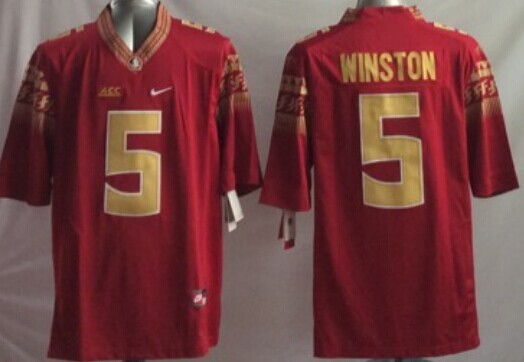 NCAA Florida State Seminoles 5 Jameis Winston red 2014 Jerseys