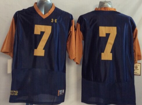 NCAA Notre Dame Fighting Irish 7 Stephon Tuitt Blue Orange 2014 Jerseys