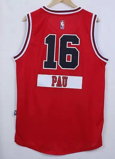 NBA Chicago Bulls 16 Pau Gasol Red 2014 Christmas Edition Jerseys