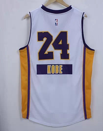 NBA Los Angeles Lakers 24 Kobe Bryant white 2014 Christmas Edition Jerseys