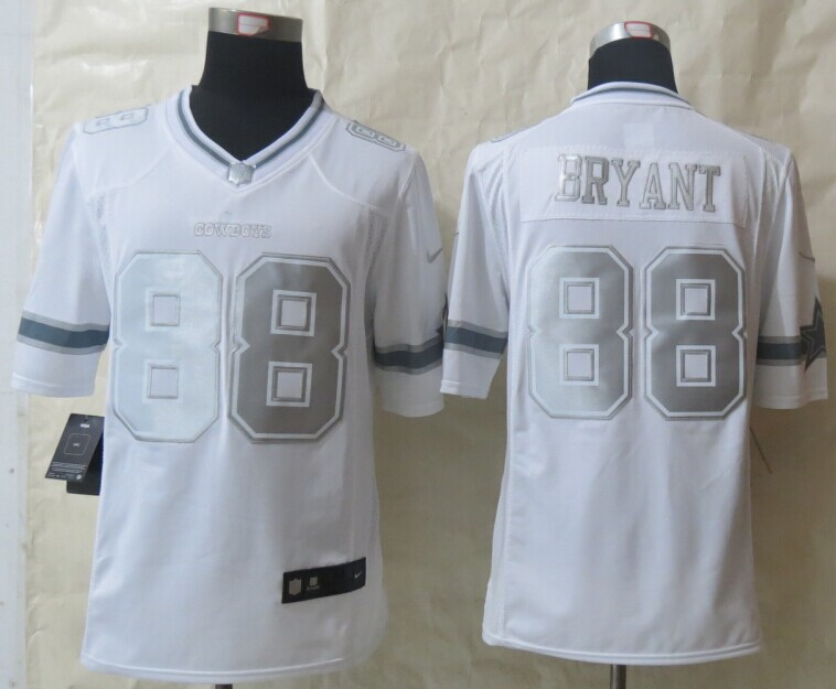 Dallas Cowboys 88 Bryant Platinum White 2014 New Nike Limited Jerseys