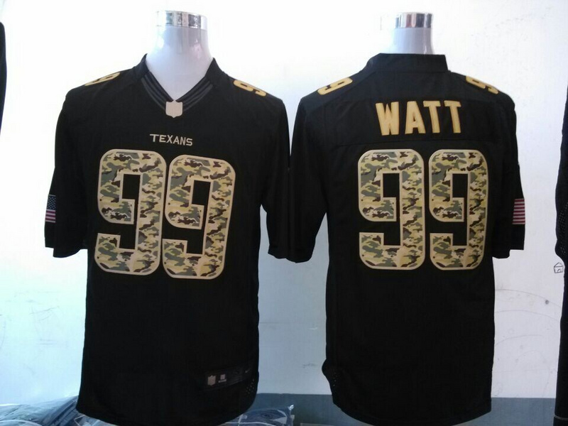 Houston Texans 99 JJ Watt Black 2014 Nike Salute TO Service Jersey