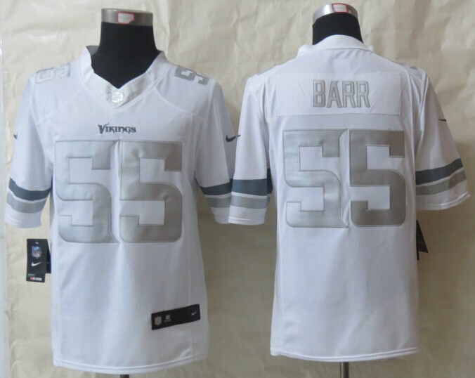 Minnesota Vikings 55 Barr Platinum White 2014 New Nike Limited Jerseys