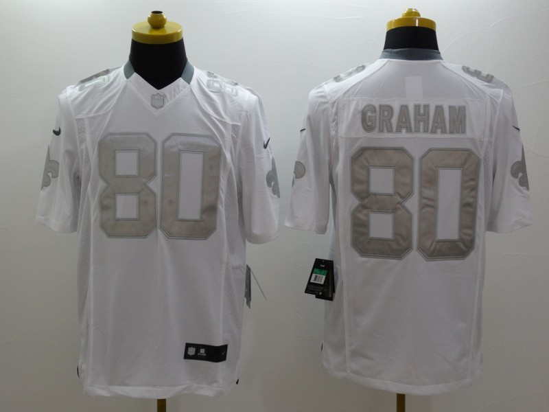 New Orleans Saints 80 Jimmy Graham White 2014 New Nike Limited Jerseys