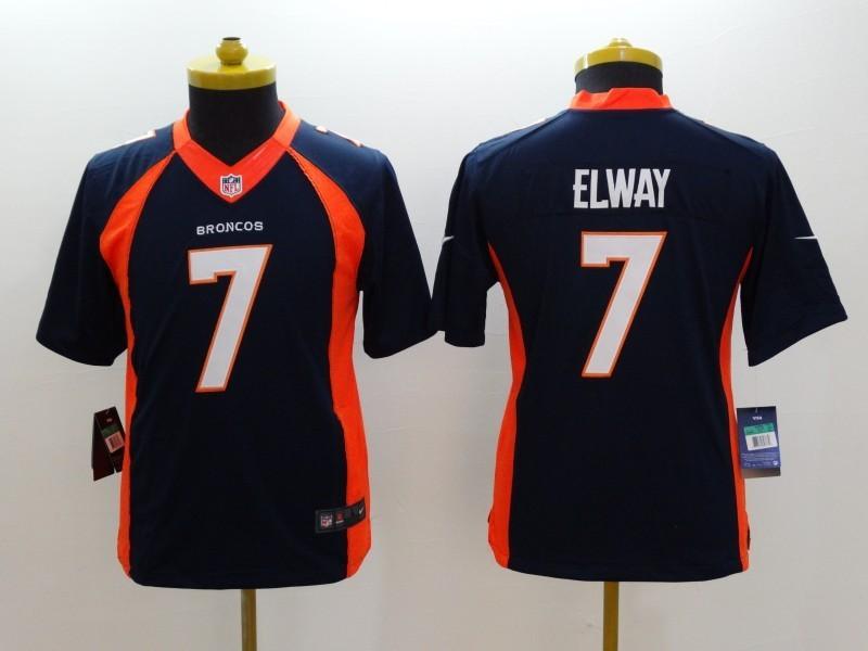 Youth Denver Broncos 7 Elway Blue 2014 Nike Limited Jerseys