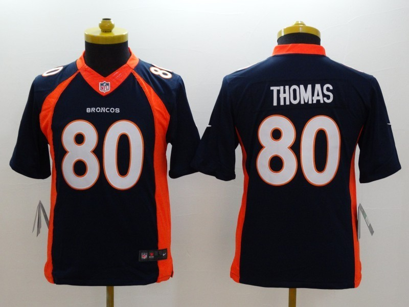 Youth Denver Broncos 80 Thomas Blue 2014 Nike Limited Jerseys