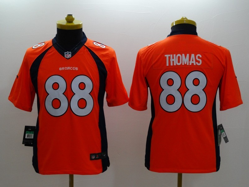 Youth Denver Broncos 88 Thomas Orange 2014 Nike Limited Jerseys