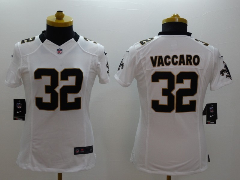 Womens New Orleans Saints 32 Kenny Vaccaro White 2014 Nike Limited Jerseys