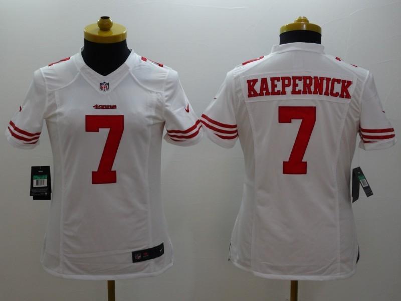 Womens San Francisco 49ers 7 Colin Kaepernick White 2014 Nike Limited Jerseys