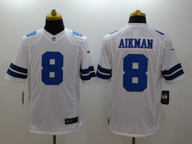 Dallas Cowboys 8 Aikman White 2014 Nike Limited Jerseys