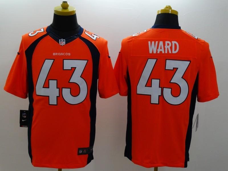 Denver Broncos 43 T.J. Ward Orange 2014 Nike Limited Jerseys