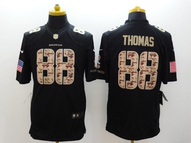 Denver Broncos 88 Thomas Black 2014 Nike Salute TO Service Jersey