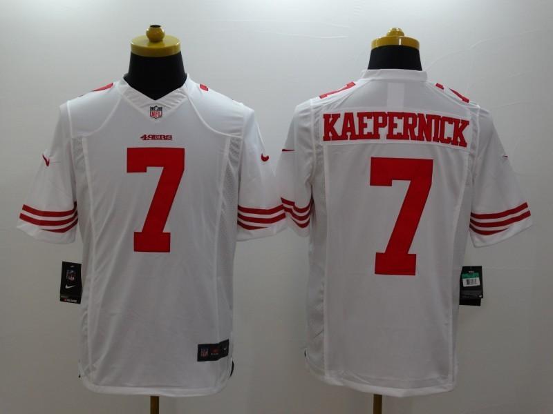 San Francisco 49ers 7 Kaepernick White 2014 Nike Limited Jerseys