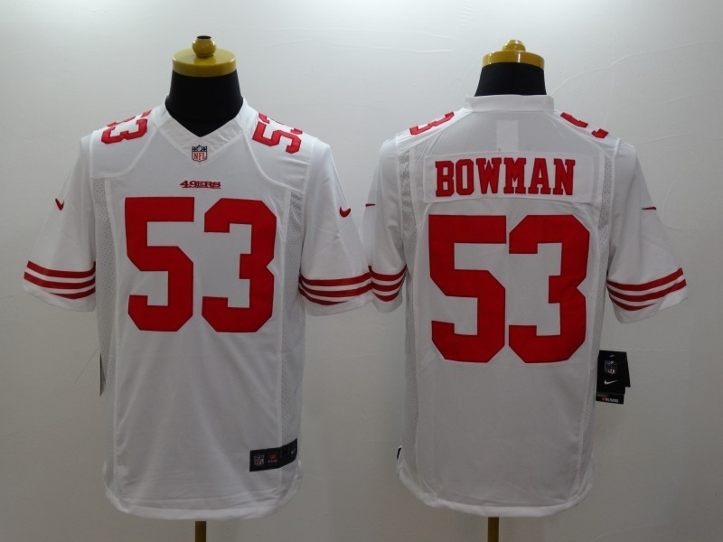 San Francisco 49ers 53 Bowman White 2014 Nike Limited Jerseys