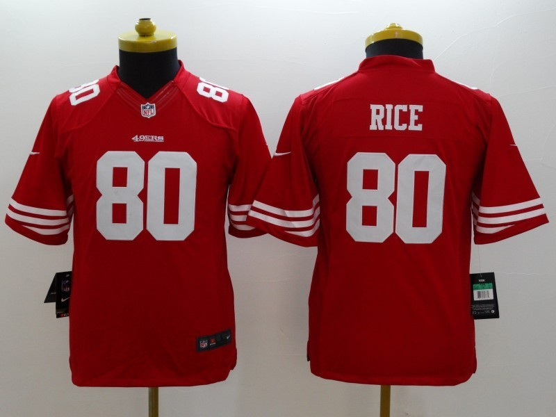 San Francisco 49ers 80 Jerry Rice red 2014 Nike Limited Jerseys
