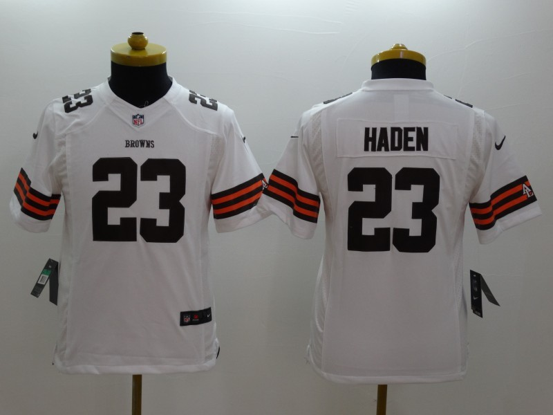 Youth Cleveland Browns 23 Joe Haden White 2014 New Nike Limited Jerseys