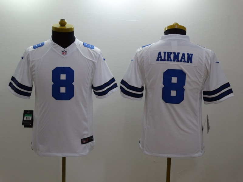 Youth Dallas Cowboys 8 Troy Aikman White 2014 New Nike Limited Jerseys