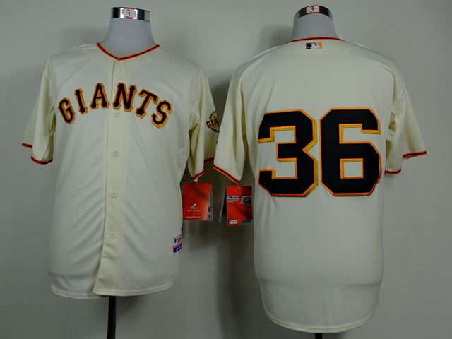 MLB San Francisco Giants 36 Gaylord Perry Gream 2014 Jerseys
