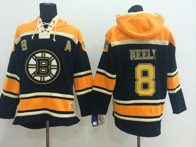 NHL Boston Bruins 8 Neely Black 2014 Pullover Hooded Sweatshirt