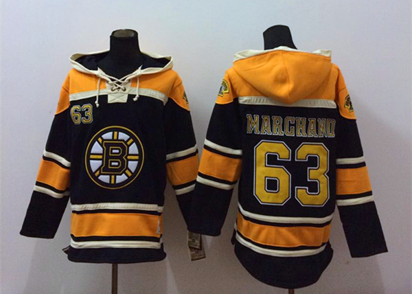 NHL Boston Bruins 63 Marghano Black 2014 Pullover Hooded Sweatshirt