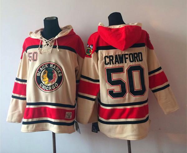 NHL Chicago Blackhawks 50 Crawford Gream 2014 Pullover Hooded Sweatshirt