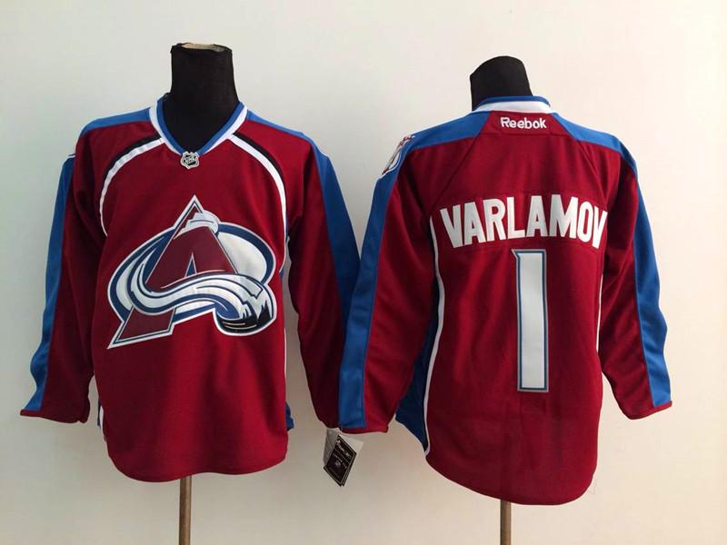 NHL Colorado Avalanche 1 Varlamov red 2014 Jerseys