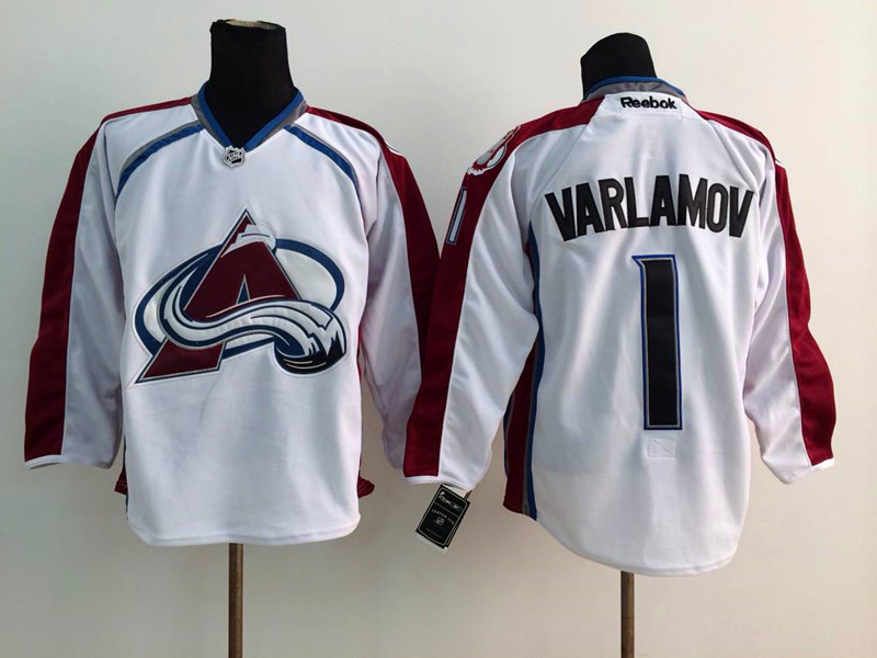 NHL Colorado Avalanche 1 Varlamov white 2014 Jerseys
