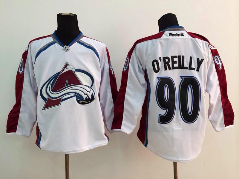 NHL Colorado Avalanche 90 Ryan O'Reilly White 2014 Jerseys