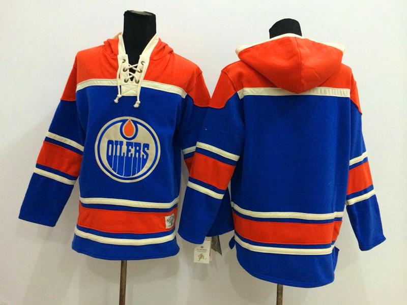 NHL Edmonton Oilers Blank Blue 2014 Pullover Hooded Sweatshirt