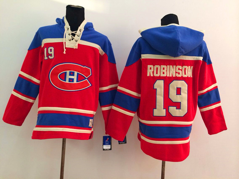 NHL Montreal Canadiens 19 Robinson Red 2014 Pullover Hooded Sweatshirt