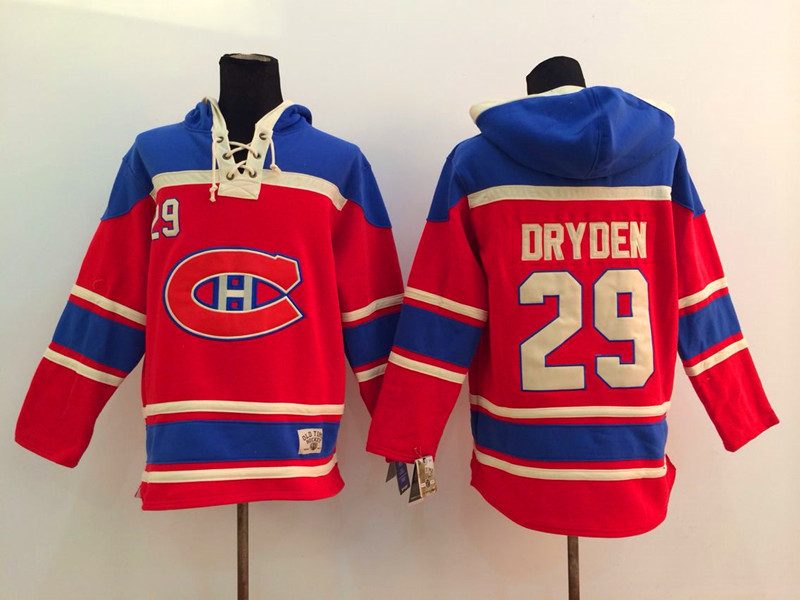 NHL Montreal Canadiens 29 Dryden red 2014 Pullover Hooded Sweatshirt