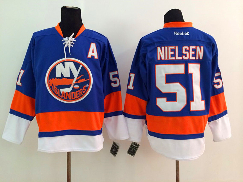 NHL New York Islanders 51 Nielsen Blue 2014 Jerseys